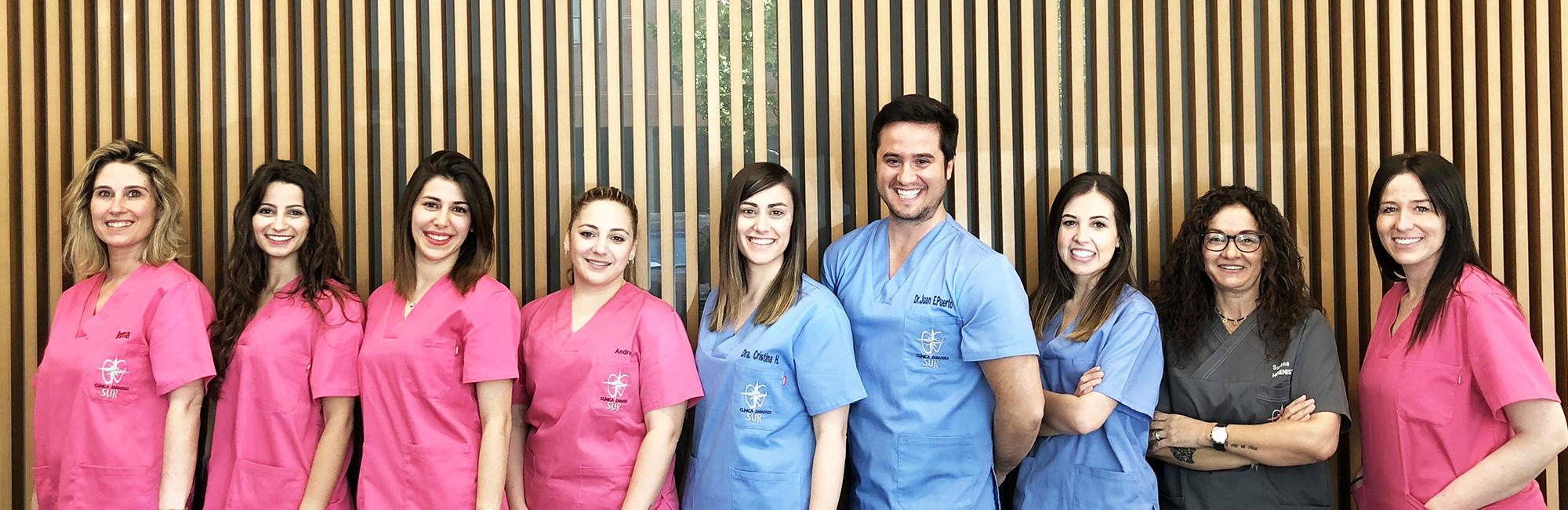 Plantilla clínica dental zaragoza sur